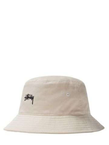 Cappello da pescatora bianco con logo