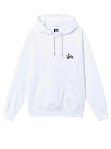 White hooded sweatshirt with logo