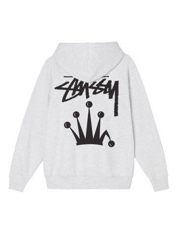 Grey hooded sweatshirt with logo