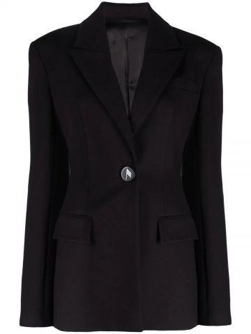 Donna black single-breasted blazer
