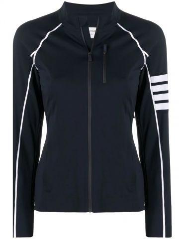 Blue 4-stripe detail jacket