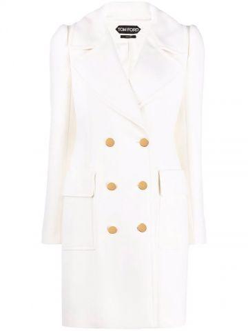 Cappotto doppiopetto bianco