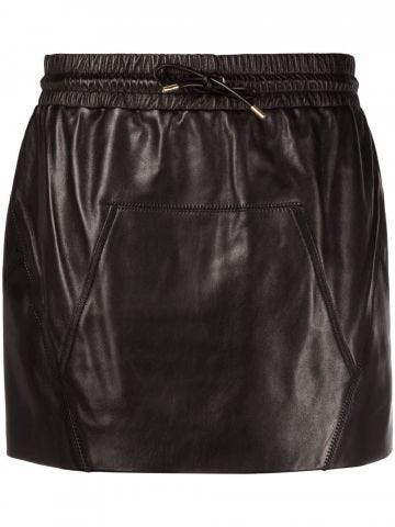 Minigonna nera con tasche