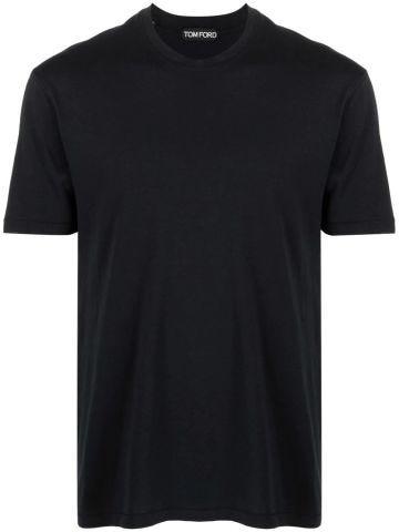 Crewneck shortsleeved T-shirt in black