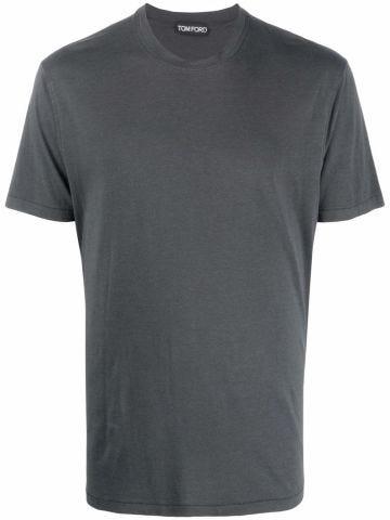 Dark grey cotton T-shirt
