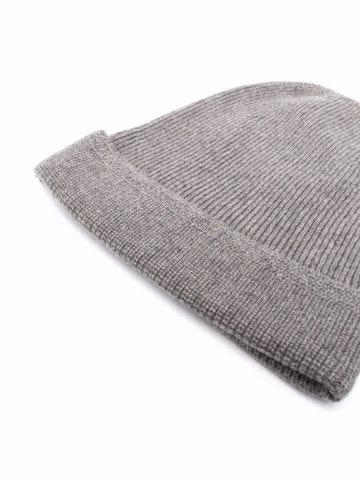 Grey cashmere beanie