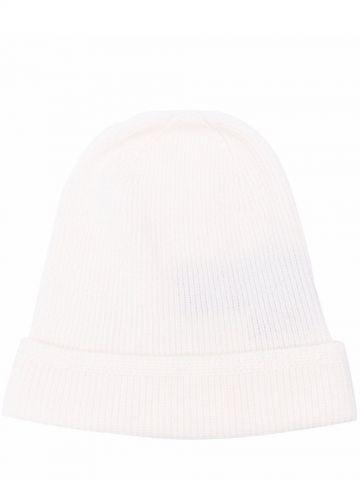 White cashmere beanie
