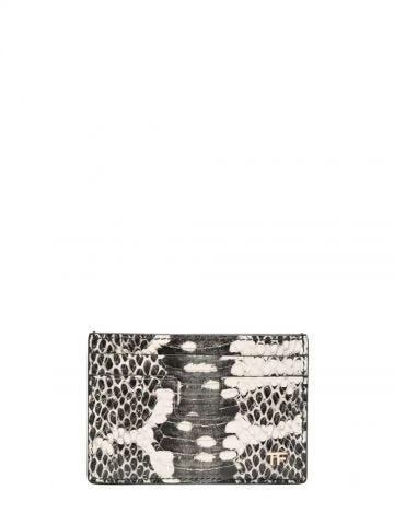 Snakeskin-effect cardholder