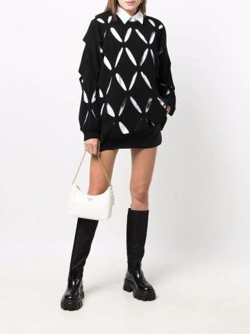Black cut-out detail sweater