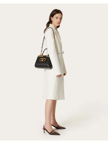 White Compact Drap coat