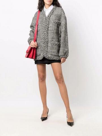 Gray jacket with Intrecciato edge