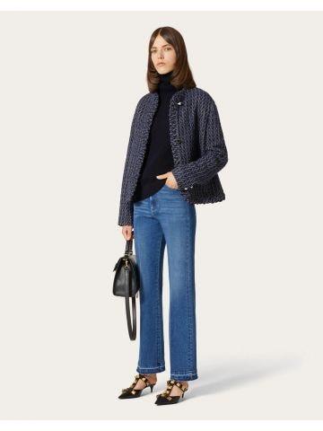 Blue denim jeans with VLogo pocket flap