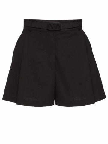 Black Techno Toile shorts