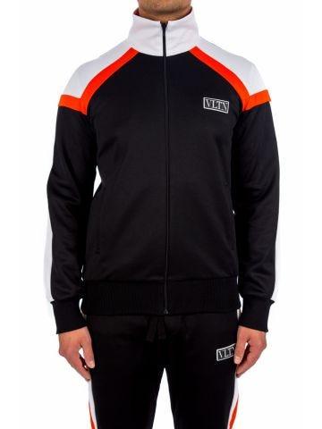 Black striped tracksuit jacket