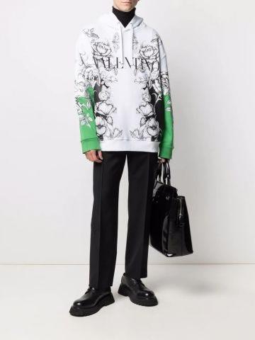 Dark Blooming print sweatshirt