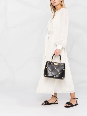 Black Roman Stud The Handle Bag in nappa