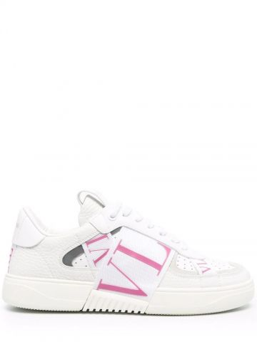 White VL7N sneakers in banded calfskin leather