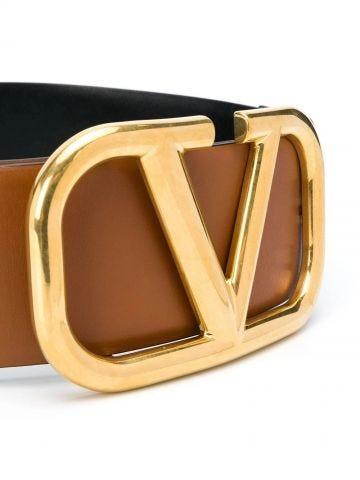 Reversible VLogo Signature Belt in glossy calfskin 70 mm