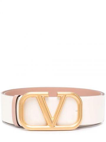 Reversible VLogo Signature Belt in glossy calfskin 40 mm