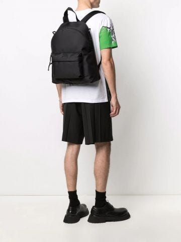 Black VLTN nylon backpack
