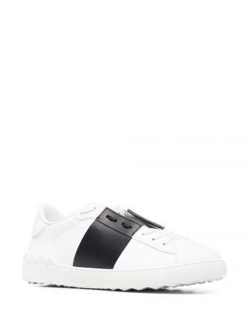 Sneaker Open in vitello bianco