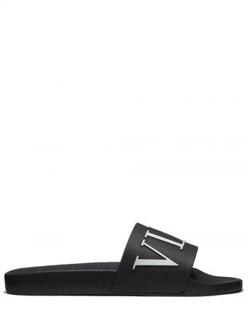 Black rubber sandal