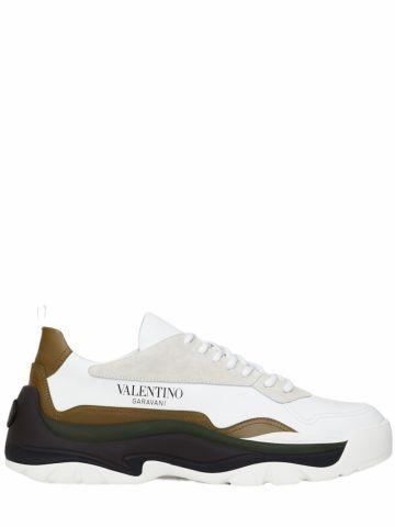 Sneakers Gumboy bianche in pelle di vitello