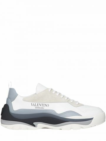 White Gumboy calfskin sneakers