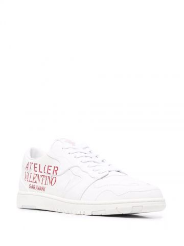 Atelier shoes 07 camouflage edition low-top sneakers in white calfskin