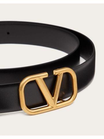 Black VLogo Signature belt