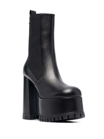 Black Medusa Juno ankle boots