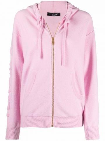 Felpa in lana e cashmere Medusa rosa