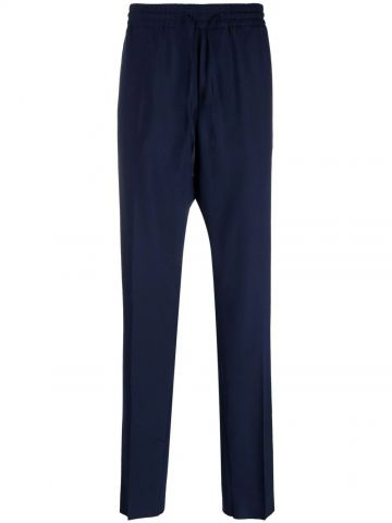 Blue logo-embroidered track pants