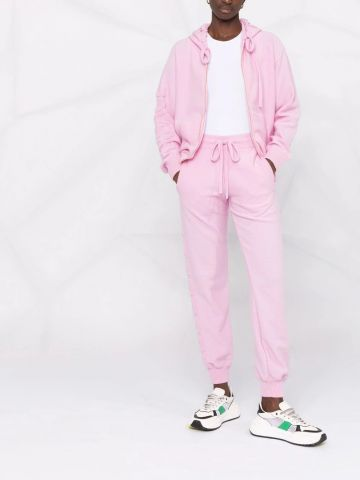 Pink wool and cashmere sweatpants