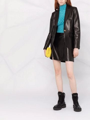 Medusa nappa leather blazer
