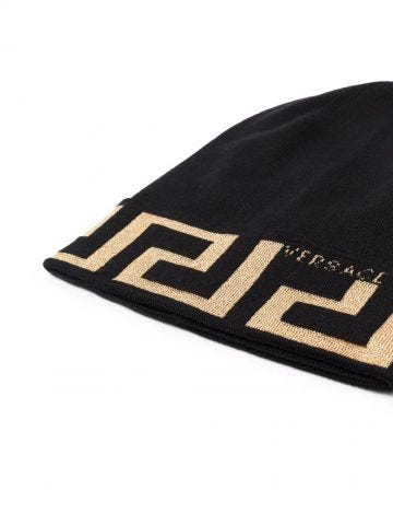 Greek print cap