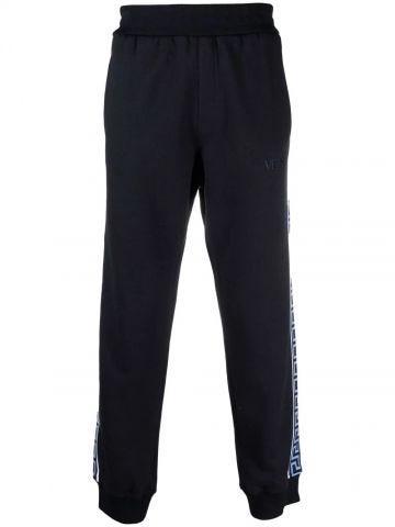 Blue Greca trim sports trousers
