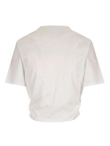 White Safety Pin Logo T-shirt