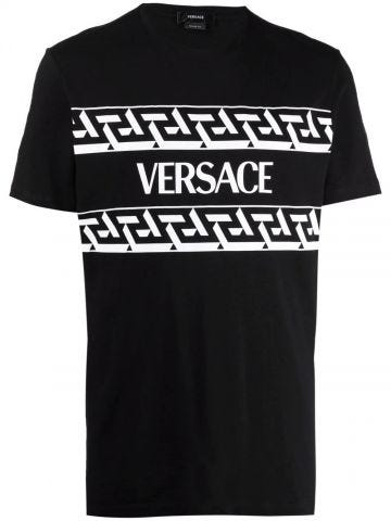 Black logo-print T-shirt