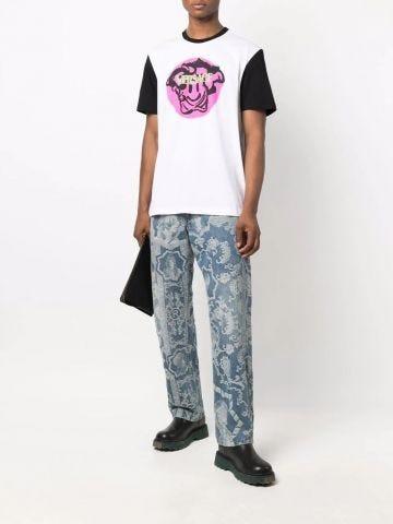 White Medusa Smiley T-shirt