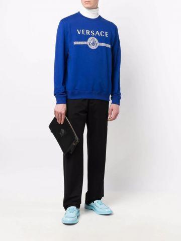 Blue print sweatshirt