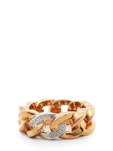 Gold Medusa Chain ring