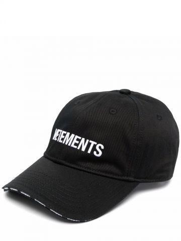 Cappello da baseball nero con ricamo