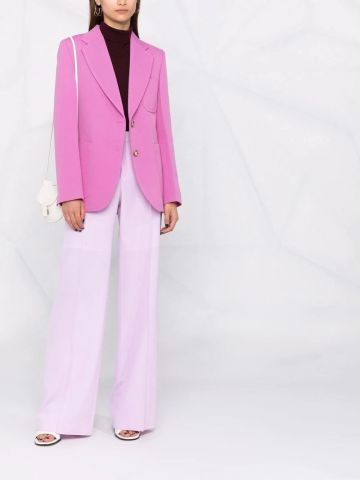 Pink tailored single-breasted blazer