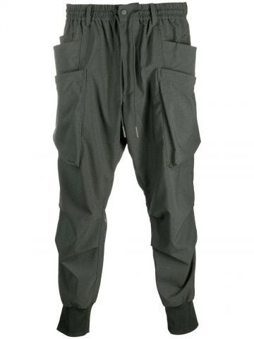 Green sport pants with pockets