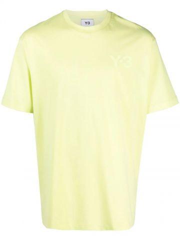 Yellow logo-print T-shirt
