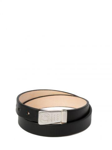 Lingot d'Amour double round leather bracelet with ingot