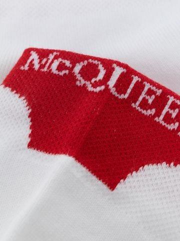 White Alexander McQueen ankle socks