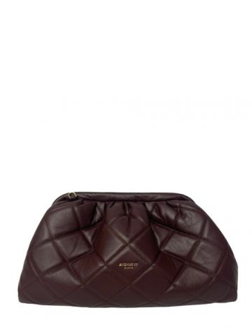 Pochette Puffy bordeaux
