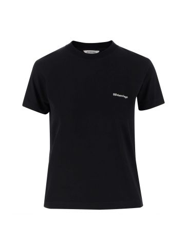 BB T-shirt in black cotton